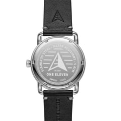SW1 Solar 3-Hand Black Leather Watch