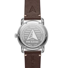 SW1 Solar 3-Hand Dark Brown Leather Watch