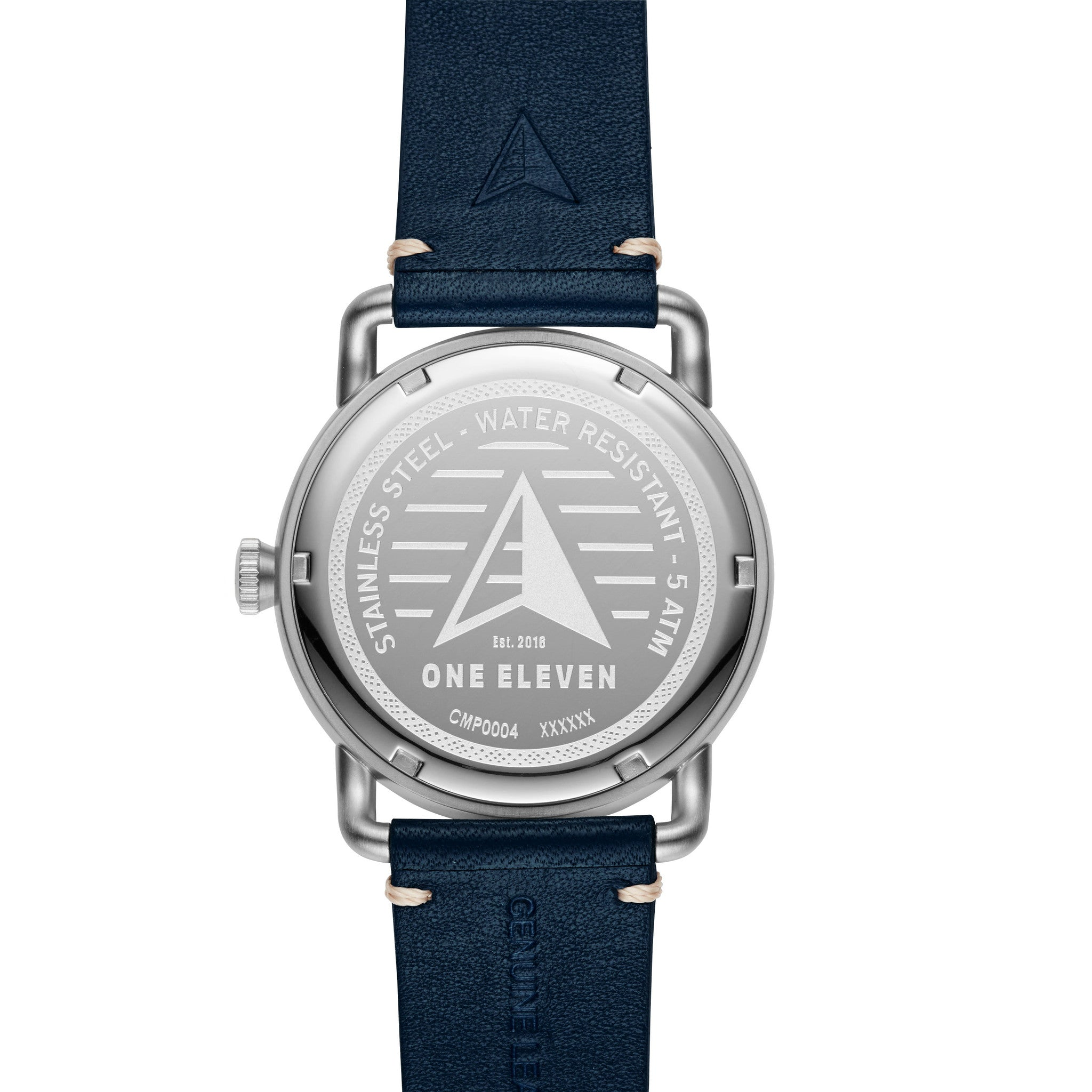 SW1 Solar 3-Hand Blue Leather Watch