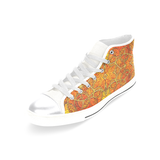 """Sunset Lights"" Women's Classic High Top Canvas Shoes"