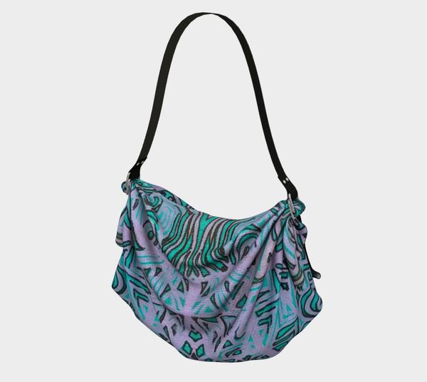 """Turquoise"" Origami Tote"