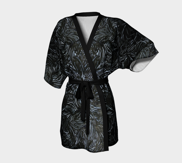 """Black Ice"" Kimono and Draped Robes"