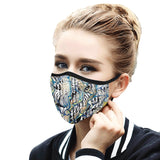 """Urban"" Mouth Mask with Ear Loops"