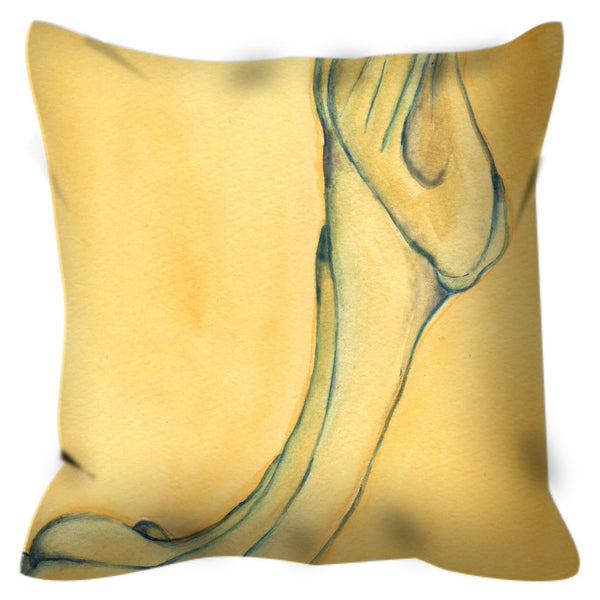 """Trumpet Suspended"" Outdoor Pillow"