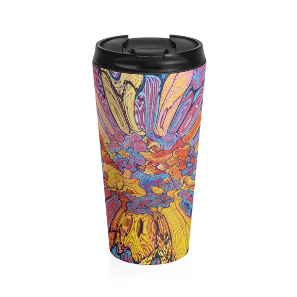 """Flowers"" Stainless Steel Travel Mugs"
