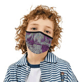 """7sum"" Purple Mouth Mask with Ear Loop (Non-Medical)"