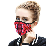"""Kisses"" Mouth Mask with Ear Loops"