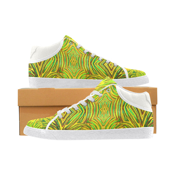 """Yellow Warmth"" Women's Chukka Canvas Shoes Fab"
