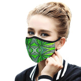 """Green Pulse"" Mouth Mask with Ear Loops"
