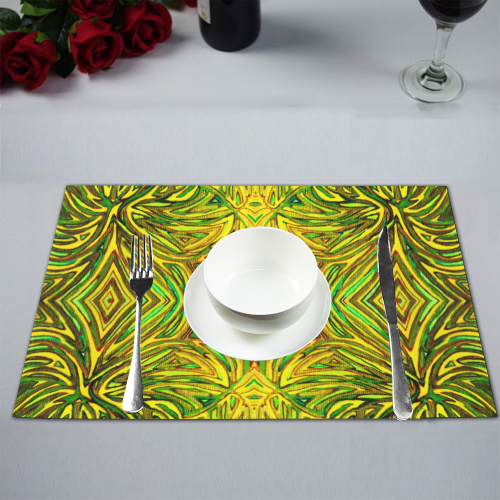 """Yellow Warmth"" Placemat 12'' x 18'' (Four Pieces)"