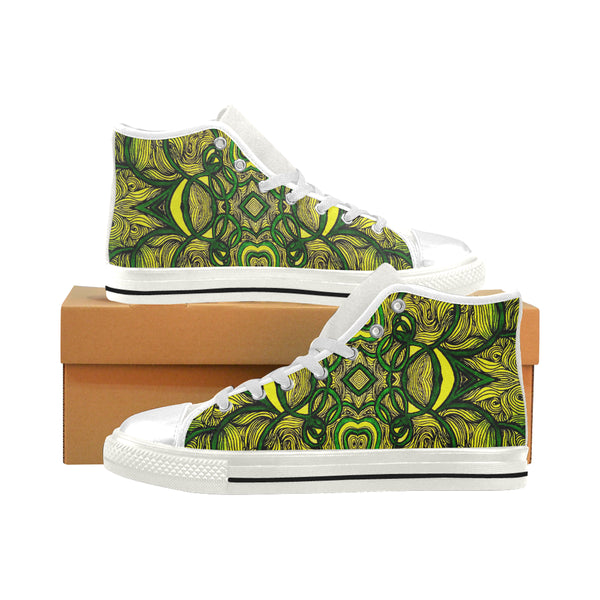 """Jamvibes"" Men's Classic High Top Canvas Shoes"