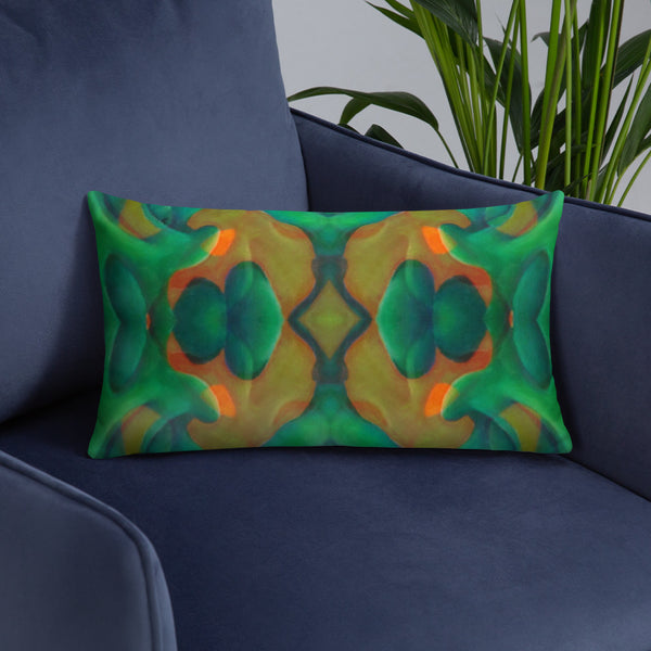 """Greeny"" Basic Pillow"