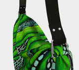 """Green Pulse"" Origami Totes"