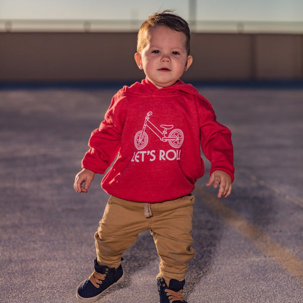 Let's Roll Hoodie - Heather Red (Toddler) - Skye Mountain Co.