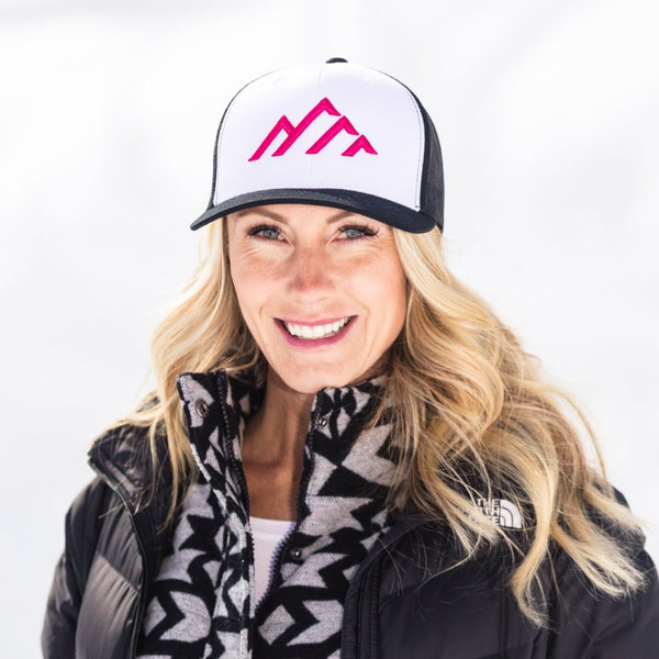 Skye Mountain - Black/White/Black - Magenta logo (Curved) - Skye Mountain Co.