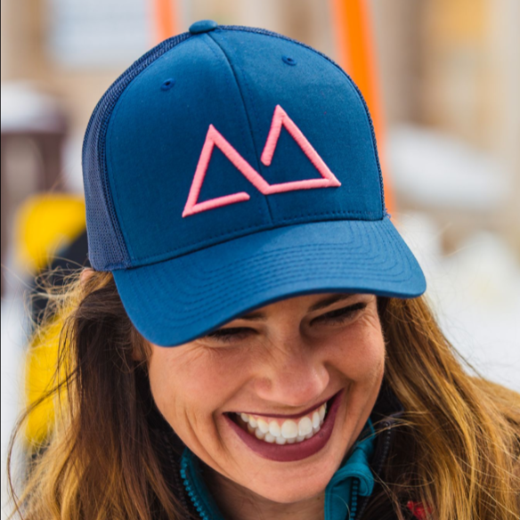 Skye Mountain (Throwback) - Navy Coral (Curved) - Skye Mountain Co.