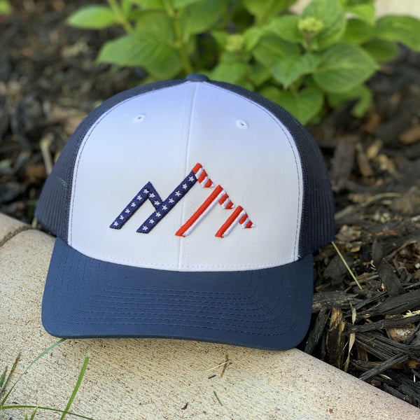 'Merica - Navy/White/Navy Mesh - Skye Mountain Co.