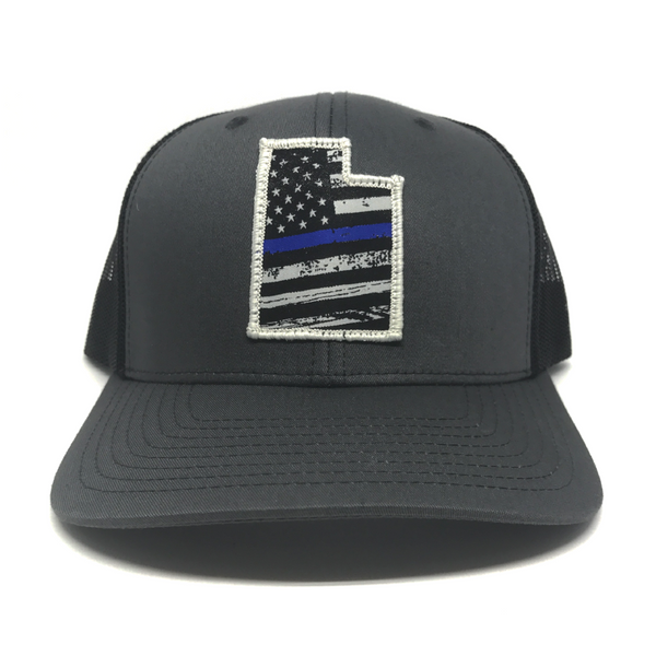 Utah Blue Line Flag - Charcoal/Black Mesh - Skye Mountain Co.