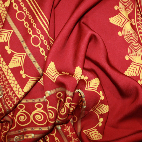 Red African Dashiki Print Material