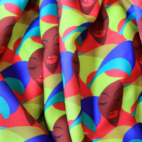 Colorful African Print Fabric Pattern