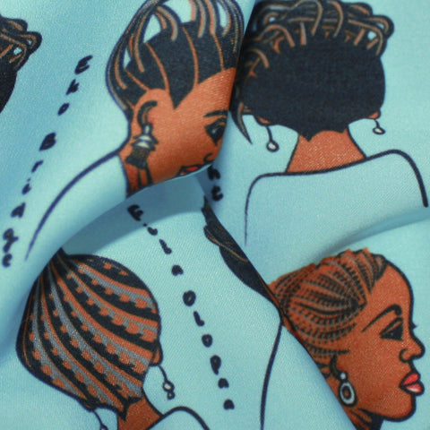 African Print Fabric Beauty Salon and Babershop Sign Fabric Print