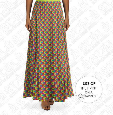 Colorful African Fabric Skirt