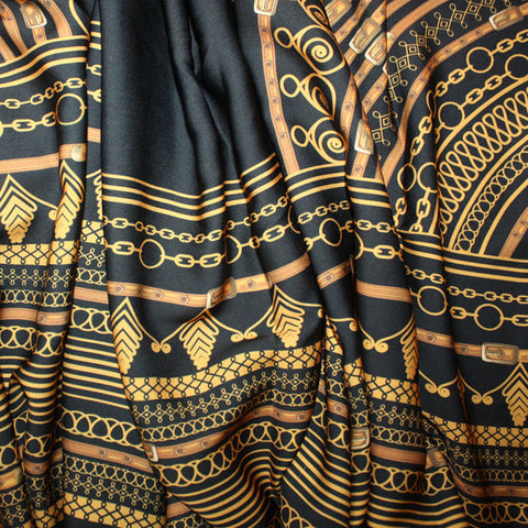 Black Dashiki Embriodered African Print Material