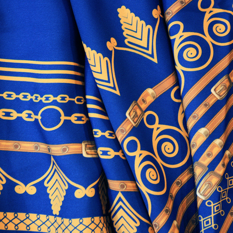 Electric Blue Vlisco Angelina Dashiki Print Inspired African Print