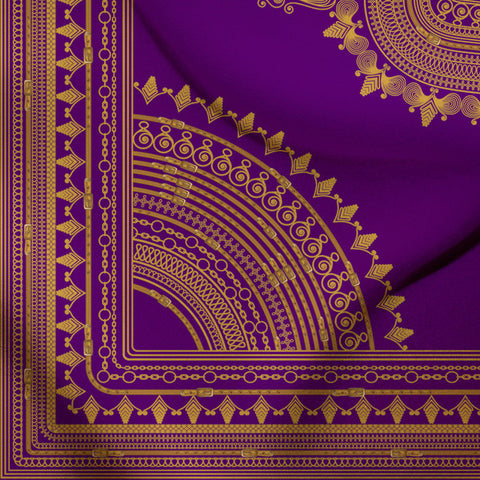 Purple Angelina Dashiki Print Inspired African Print