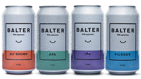 Image of Balter beer, included with Manflower Co's shower beer holder.