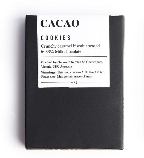 Cacao Cookies Chocolate Bar
