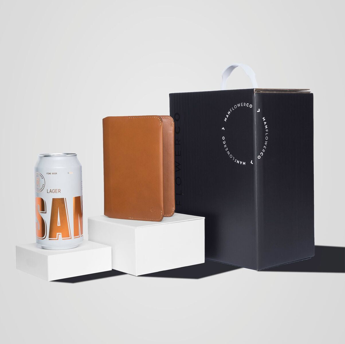 Image of Manflower Co gift box featuring Bellroy Notebook Cover.