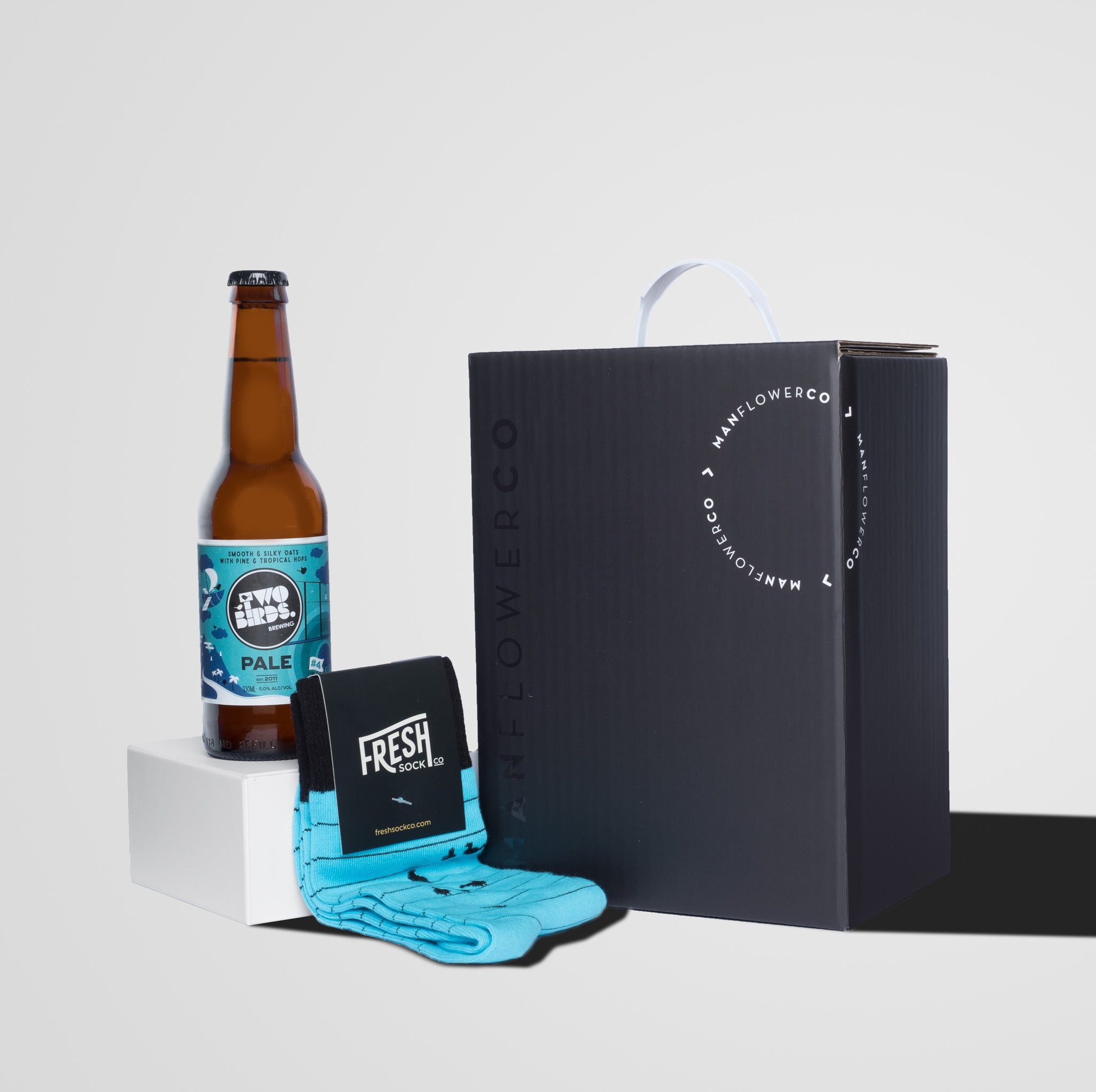 Image of Manflower Co gift box featuring Freshsock Co.