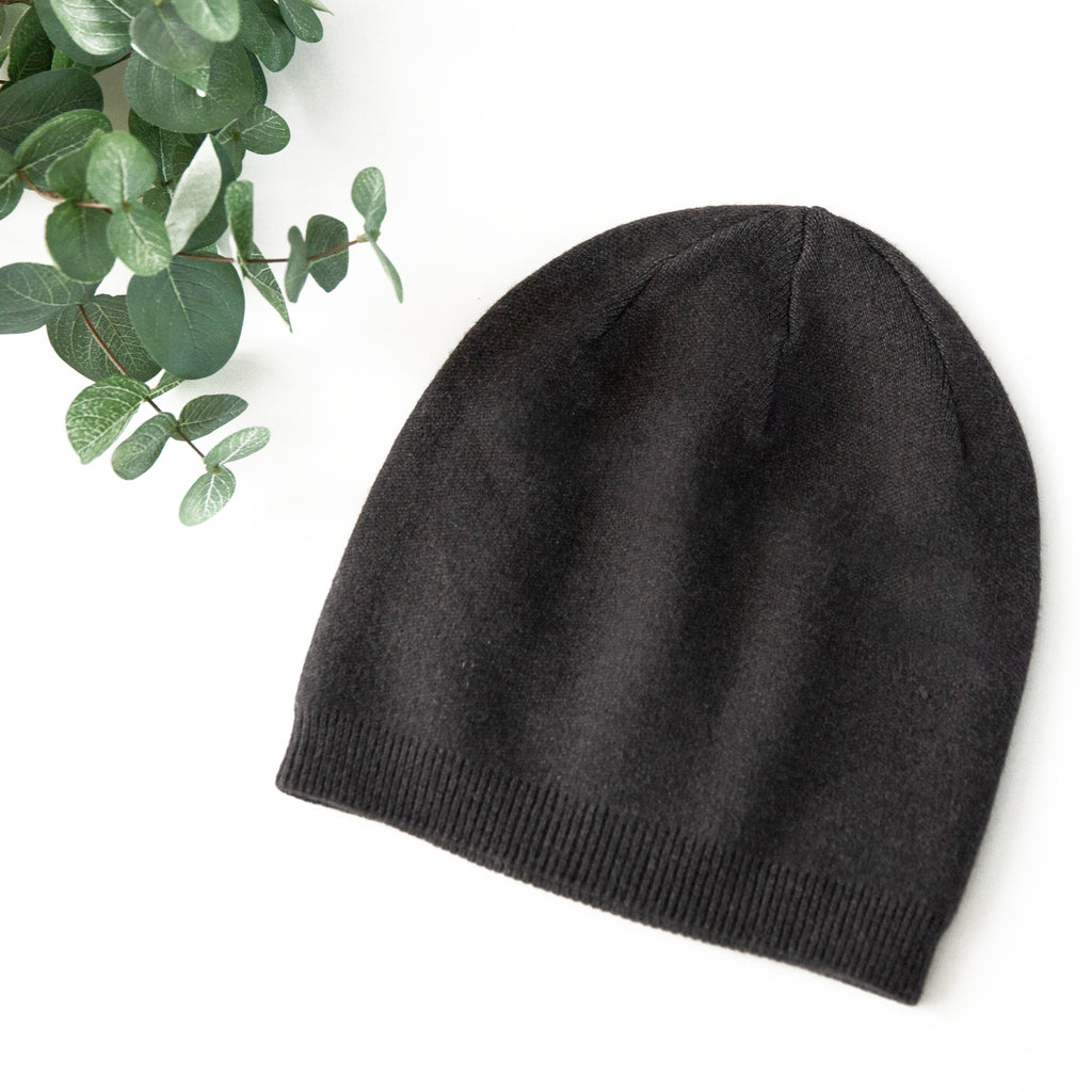 Charcoal Cashmere Blend Beanie