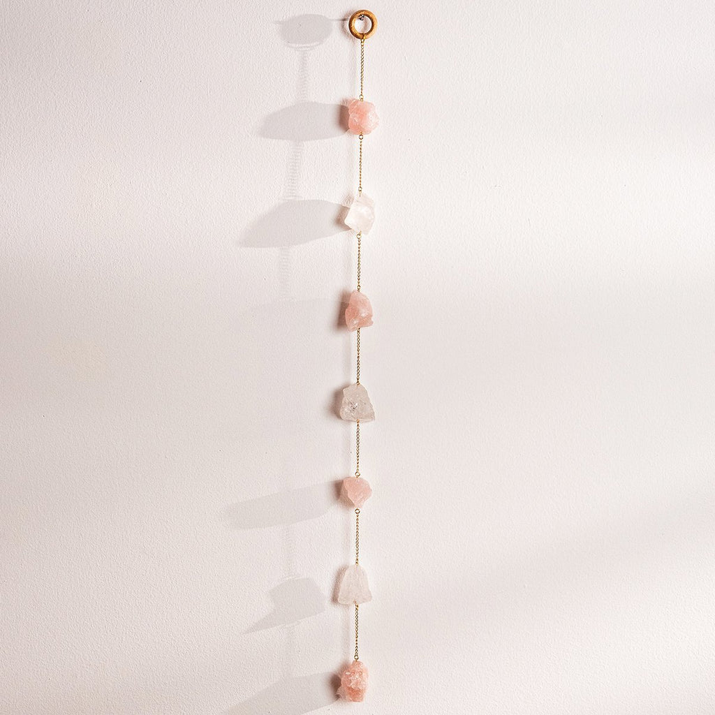 Rose Quartz Wall Hanging