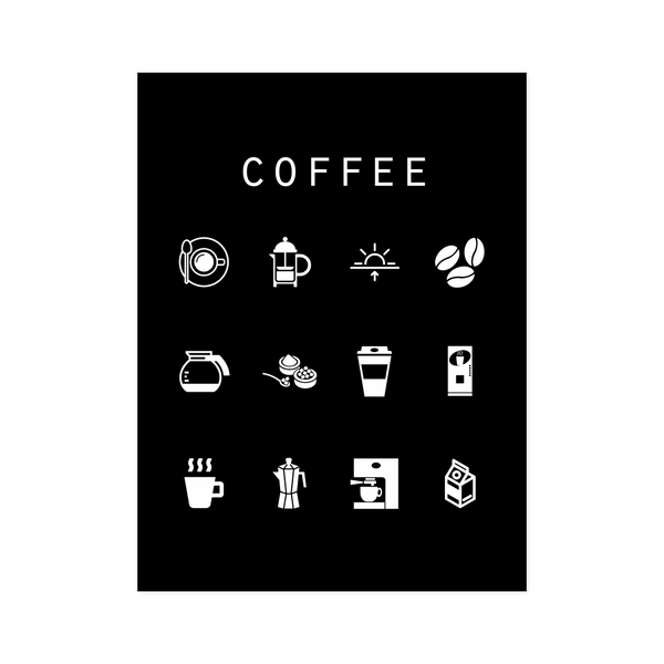 Coffee Black Poster - Beacon