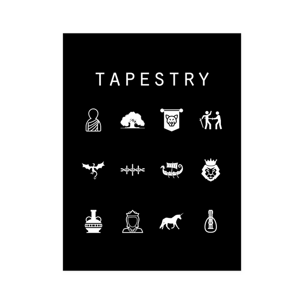 Tapestry Black Poster - Beacon