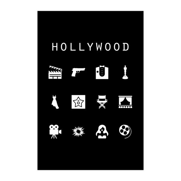 Hollywood Black Poster - Beacon