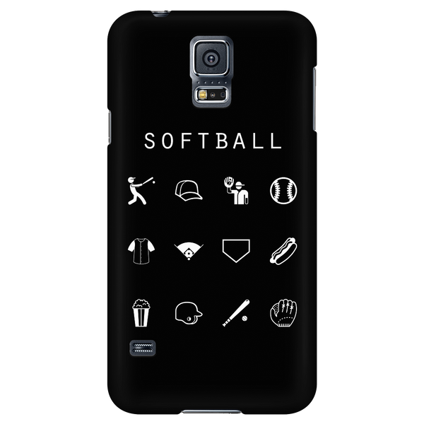 Softball Black Phone Case - Beacon