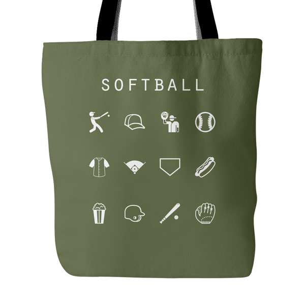 Softball Tote Bag - Beacon