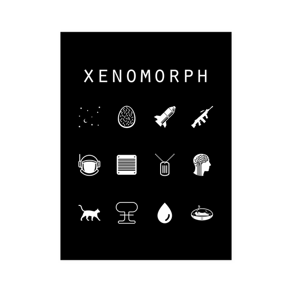 Xenomorph Black Poster - Beacon