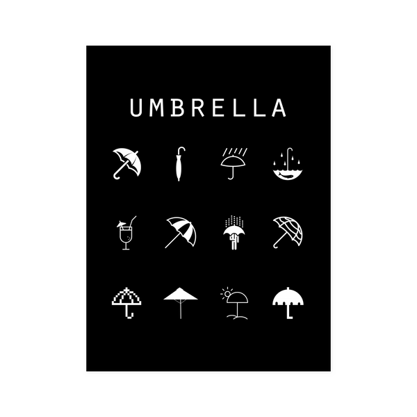 Umbrella Black Poster - Beacon