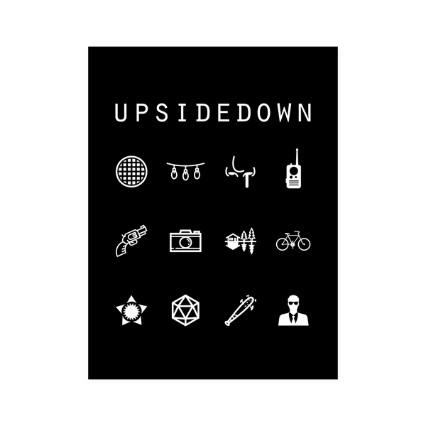 Upsidedown Black Poster - Beacon