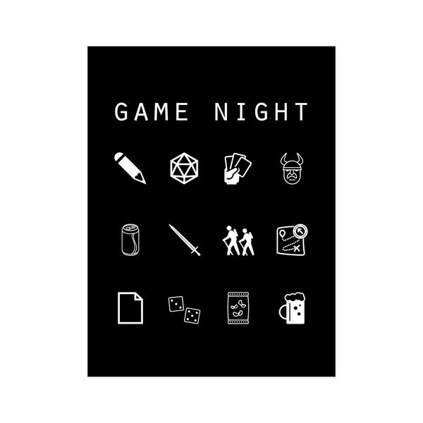 Game Night Black Poster - Beacon