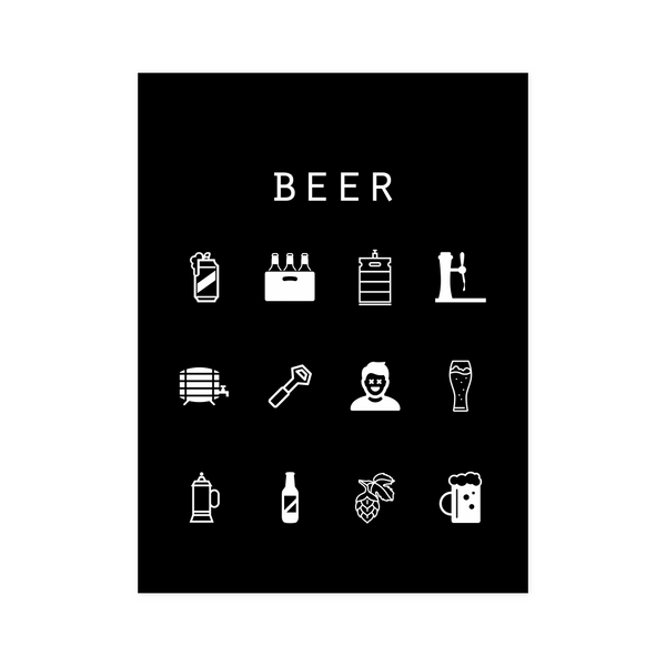 Beer Black Poster - Beacon
