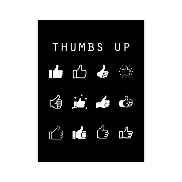 Thumbs Up Black Poster - Beacon