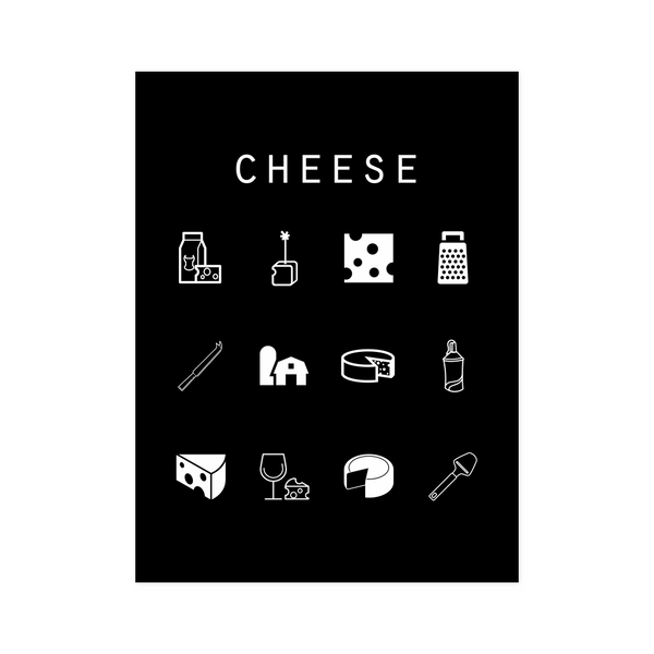 Cheese Black Poster - Beacon