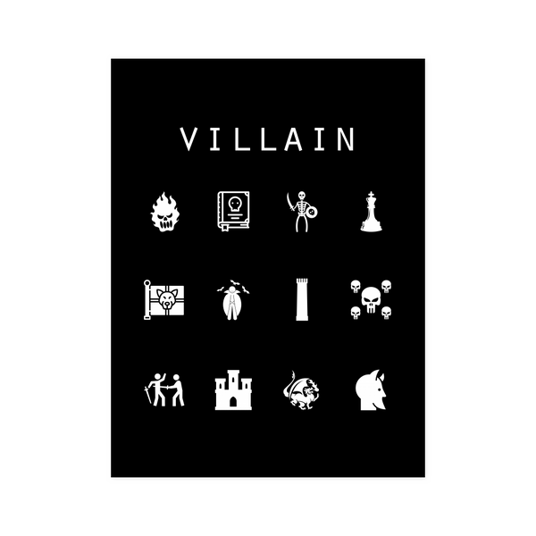 Villain Black Poster - Beacon