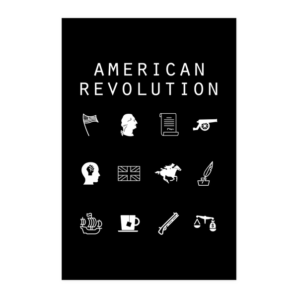 American Revolution Black Poster - Beacon