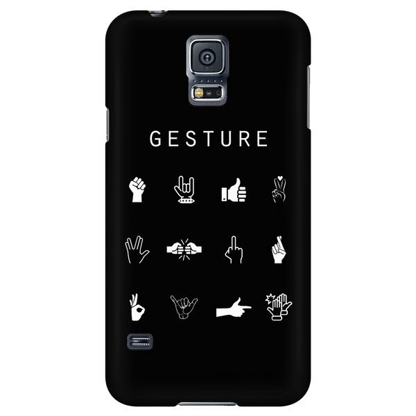 Gesture Black Phone Case - Beacon
